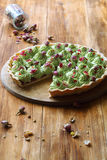 Wild Strawberry Pistachio Tart Royalty Free Stock Photography