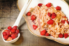 Wild strawberry and red onion risotto Royalty Free Stock Image