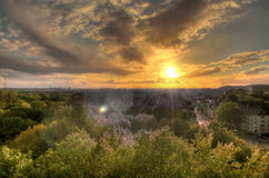 Wild sunset royalty free stock photography