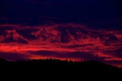 Wild Sunset, Montana, over the Sapphire Mountains Royalty Free Stock Photos