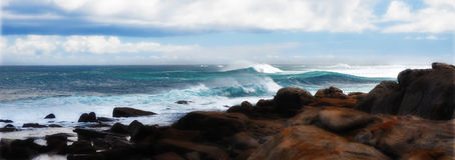Wild Surf and Coastal Rocks Stock Images