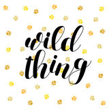 Wild thing. Brush lettering vector illustration. Royalty Free Stock Photos