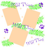 Wild thing scrapbook Royalty Free Stock Image