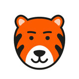 Wild tiger icon. Vector Illustration Royalty Free Stock Photo