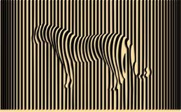 Wild tiger. Optical illusion vector illustration Stock Image