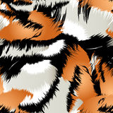 Wild tiger stripes in a seamless pattern Stock Photo