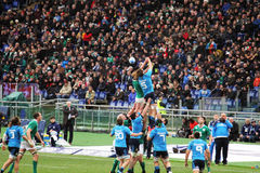 Wild touche. A touche during the rbs rugby match italy vs ireland played at rome.7/2/2015 Stock Photo