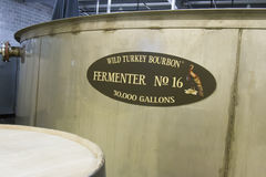 Wild Turkey Bourbon fermentation tub Stock Photos