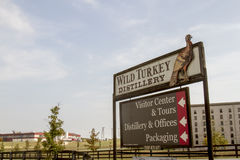 Wild Turkey Distillery sign and factory stock photos