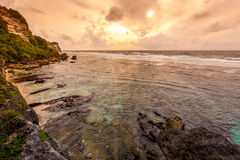 Wild Uluwatu coast Royalty Free Stock Photo