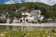 Wild, unspoiled, of immeasurable beauty, Lake Scanno. Lake Scanno is a jewel hidden in the heart of Italy, and it`s worth seeing and discovering it before all Stock Photography