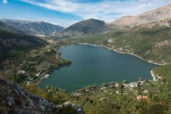Lake Scanno. Wild, unspoiled, of immeasurable beauty, Lake Scanno Stock Photography