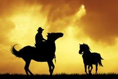 wild vektor för rodeo för race för affisch för häst för grunge för bakgrundscowboydiagram royaltyfri illustrationer