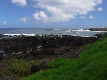 Wild volcanic southwest coast of Easter Island Royalty Free Stock Photos