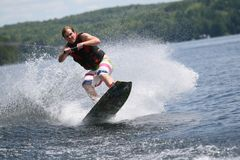 Wild Wakeboarding Stock Images