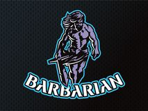 Wild warrior. Barbarian. royalty free illustration