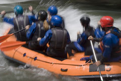 Wild water rafting stock photography