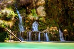 Wild waterfall on Crete. Stock Photos