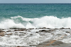 Wild waves in Spain. Wild waves along the Costa Blanca in Spain Stock Photo
