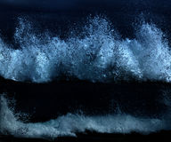 Wild waves, stormy weather and rocks, Australian c Royalty Free Stock Photo