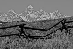 Wild west. The Grand Tetons in late afternoon Stock Photography