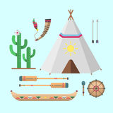 Wild west american indian designed element traditional art concept and native tribal ethnic feather culture ornament for. The design vector illustration Royalty Free Stock Photos