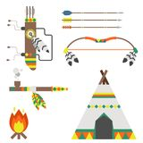 Wild west american indian designed element traditional art concept and native tribal ethnic feather culture vector Stock Photo