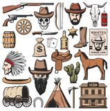 Wild West And Western American Icons Royalty Free Stock Images