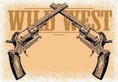Wild west background Stock Image