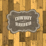 Wild west background on seamless wooden texture. Stock Images