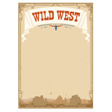 Wild west background for text.Vector illustration Royalty Free Stock Photo