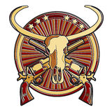 Wild West Badge Royalty Free Stock Photo
