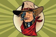 Wild West bandit robot steampunk Stock Photography