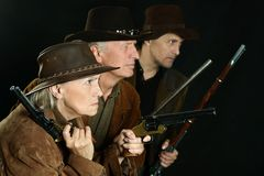 Wild west bandits Royalty Free Stock Image