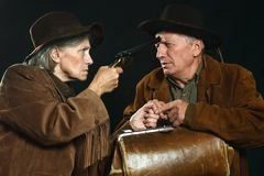 Wild west bandits Stock Images