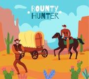 Wild West Bounty Background Vector Illustration