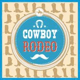 Wild West card with cowboy boots decoration and text Stock Photography