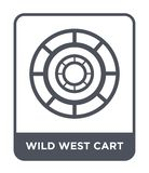 wild west cart icon in trendy design style. wild west cart icon isolated on white background. wild west cart vector icon simple stock illustration