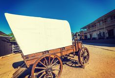 Wild west cart in old town San Diego. California, USA royalty free stock image