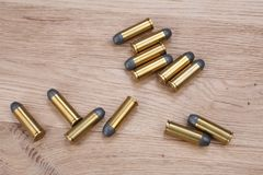 Wild west cartridges stock photos