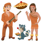Wild west characters Royalty Free Stock Photo