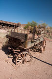 Wild West Coach. Abandoned wooden coach in american ghost town Royalty Free Stock Images