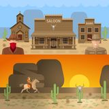 Wild West Colored Concepts Stock Photos