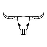 Wild west cow skull Stock Image