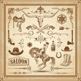 Wild West Decorations Set 3 Stock Photos