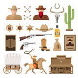 Wild West Decorative Elements Set Stock Photo