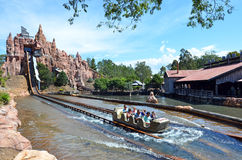 Wild West Falls Adventure Ride in Movie World Gold Coast Austral stock photography
