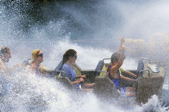 Wild West Falls Adventure Ride in Movie World Gold Coast Austral stock images