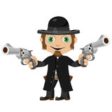 Wild West fictional character, former priest Stock Photo
