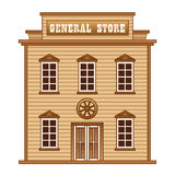 Wild West general store. Store building from Wild West stock illustration